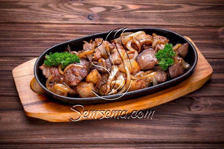 طريقة عمل صينية مكعبات اللحم بالبطاطس