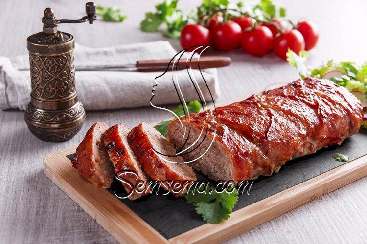 طريقة عمل قالب اللحم بصوص الديمي جلاس