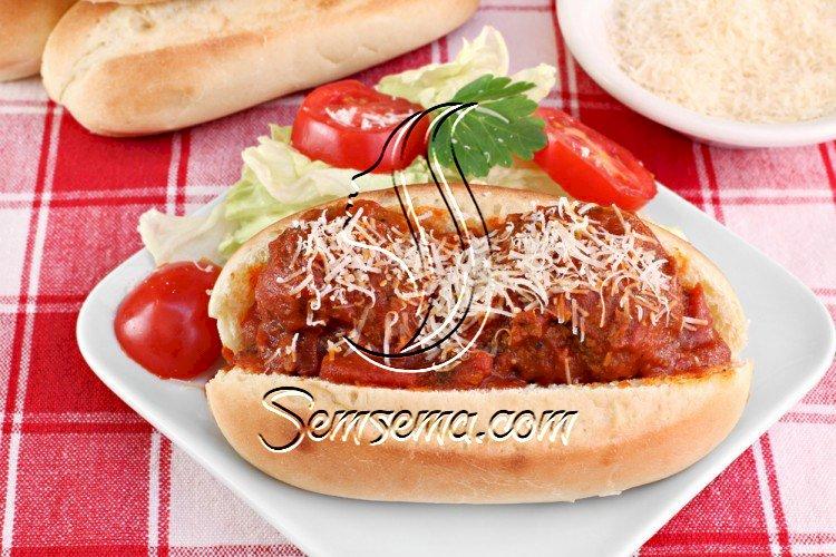 ساندويش كرات اللحم الشهية