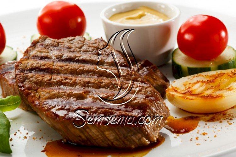 ستیك اللحم بالثوم وصوص البرتقال للرجيم